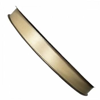 Сатенена лента - 1,0 см - 50 ярда - № 02 - шампанско