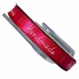 """Сатенена лента с надпис """"Handmade"""" - 1 cm - 07"""