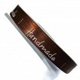 """Сатенена лента с надпис """"Handmade"""" - 1 cm - 08"""