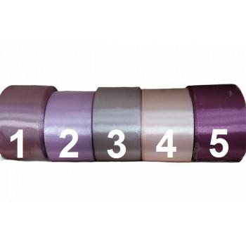 Сатенена лента 4 см - 5 цвята