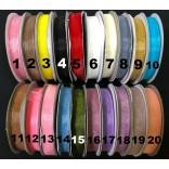 ЛЕНТА ОРГАНЗА 1 см, 25 ярда - 20 цвята