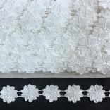 ДАНТЕЛА FS-8 - Цветя -  Бяла