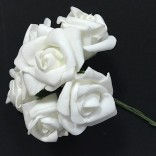 Розички от фоам 3 - 4 см  - 72 бр - Бели