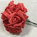 Рози от фоам - 3-4 см, с дръжки - 72бр