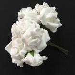 Розички от фоам 2,5 см  - 144 бр - Бели
