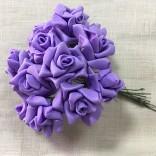 Рози от фоам 2,5 см с дръжки - 144 бр