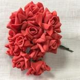 Рози от фоам 2,5 см с дръжки  - 144 бр - 06