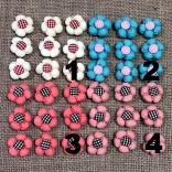 ТЕКСТИЛНИ ЦВЕТЕНЦА - 10 бр - 4 цвята