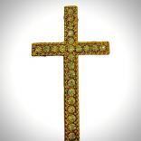 Елемент Кръст за пронизване - 5 броя - златист