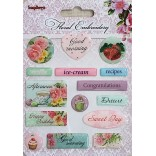 ДЕКОРАЦИИ К-Т - Стикери - Floral Embroidery - Scrapberry`s