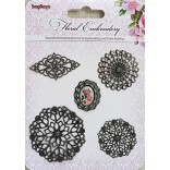БРАДС к-т  Floral Embroidery - Scrapberry`s