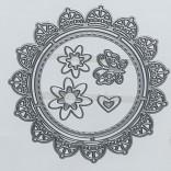 ШАБЛОН РАМКА И ЦВЕТЯ - 50563